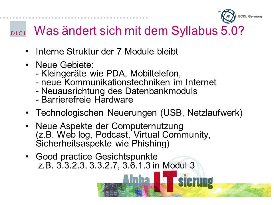 Was ändert sich mit dem Syllabus 5.0