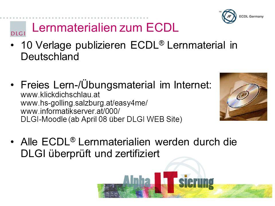 Lernmaterialien zum ECDL