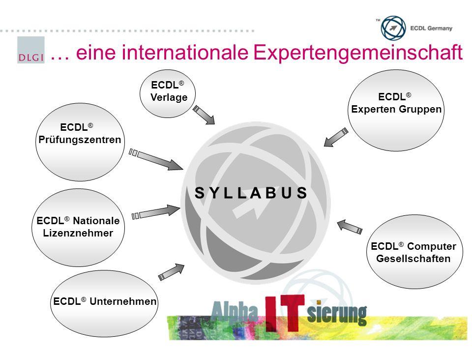ECDL® Nationale Lizenznehmer ECDL® Computer Gesellschaften