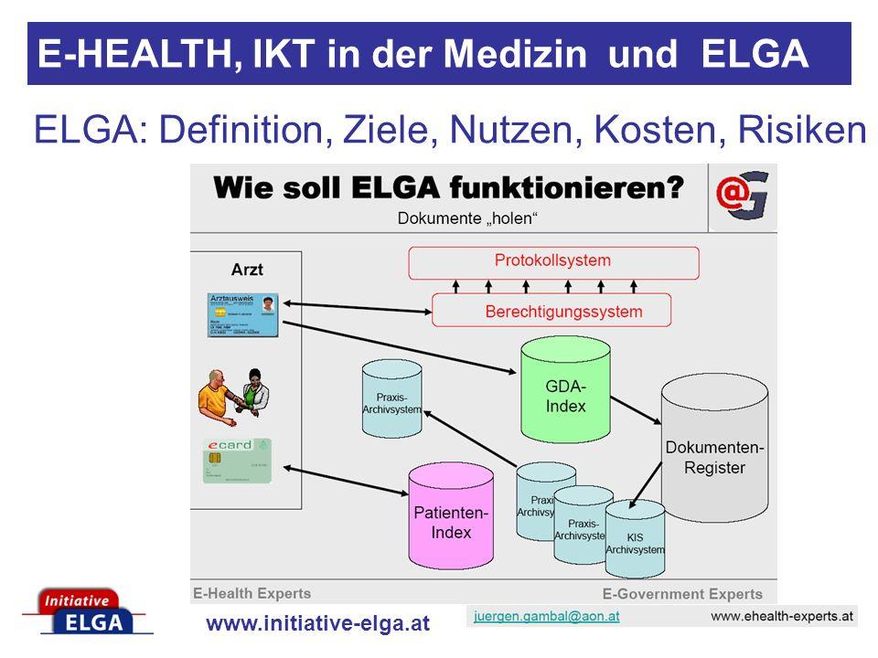 ELGA: Definition, Ziele, Nutzen, Kosten, Risiken