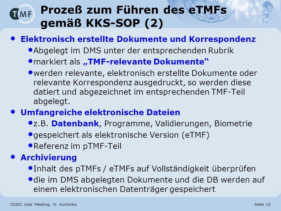 Prozeß zum Führen des eTMFs gemäß KKS-SOP (2)