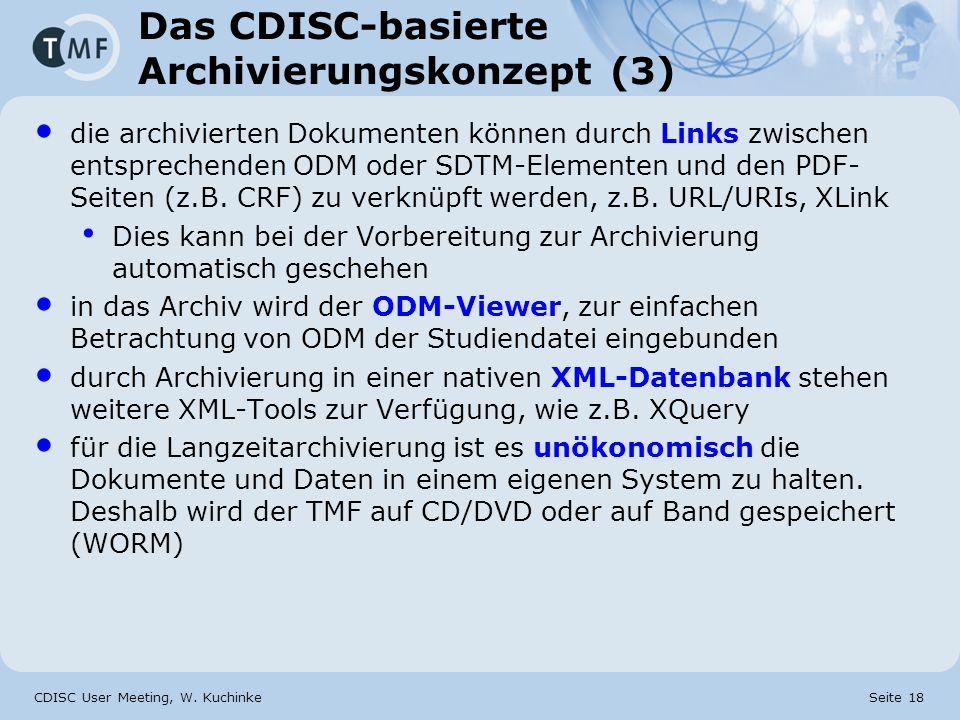 Das CDISC-basierte Archivierungskonzept (3)
