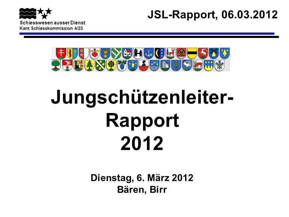 Jungschützenleiter- Rapport 2012 Dienstag, 6. März 2012 Bären, Birr