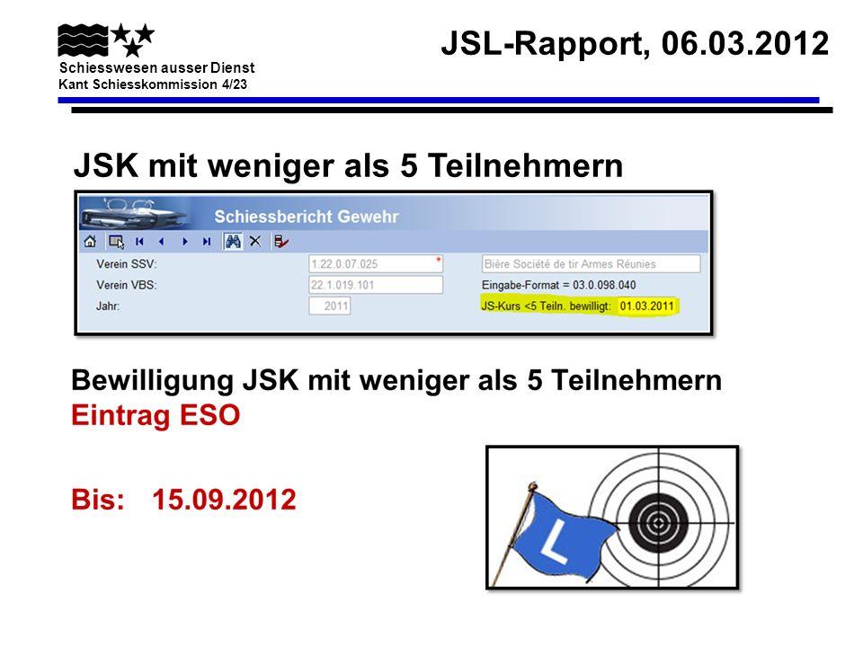 JSK mit weniger als 5 Teilnehmern
