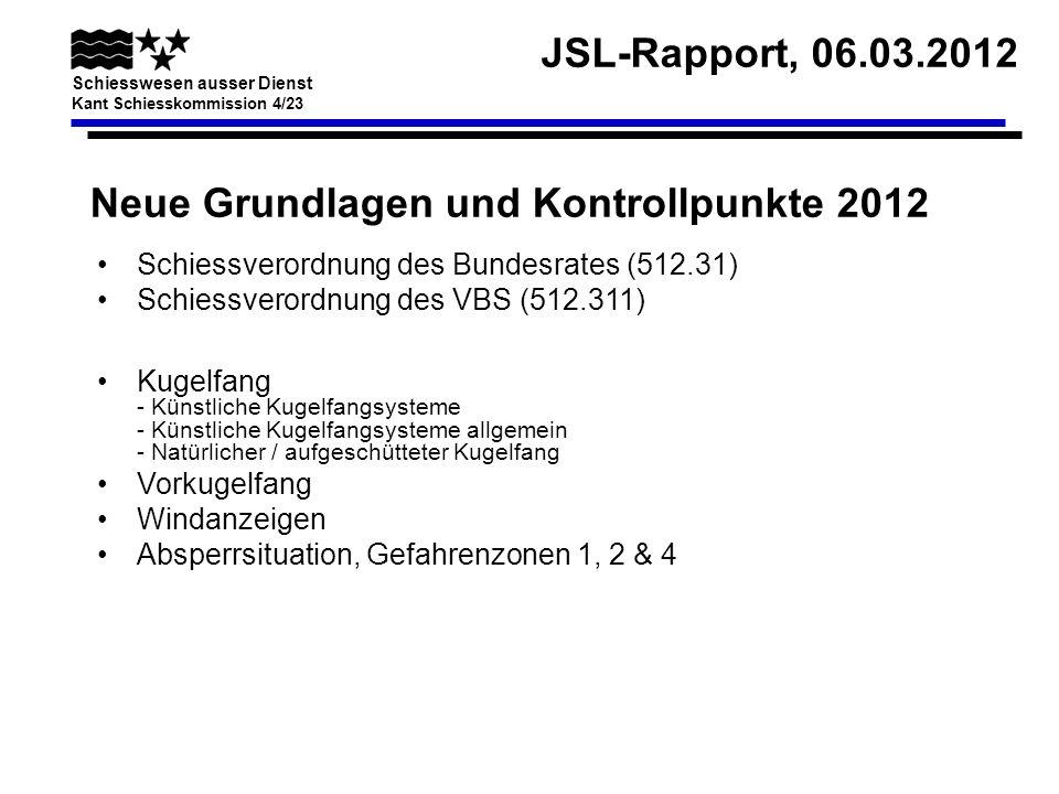 Neue Grundlagen und Kontrollpunkte 2012