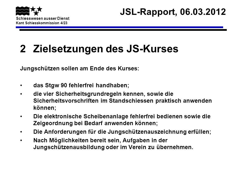 Zielsetzungen des JS-Kurses