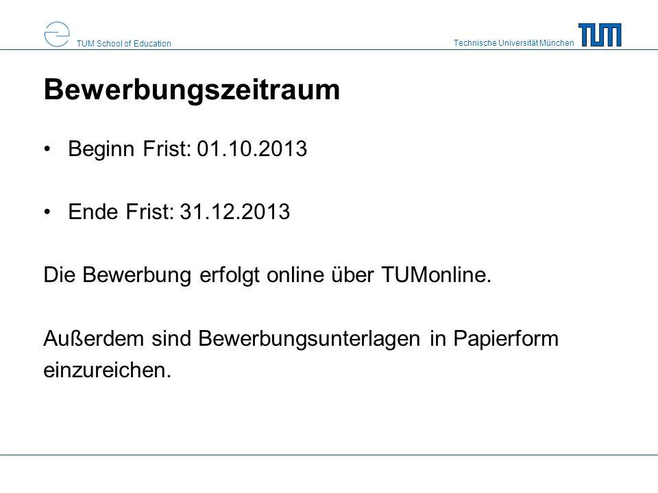 Bewerbungszeitraum Beginn Frist: 01.10.2013 Ende Frist: 31.12.2013
