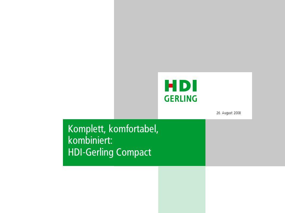 Komplett, komfortabel, kombiniert: HDI-Gerling Compact