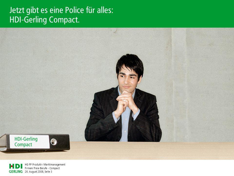 Jetzt gibt es eine Police für alles: HDI-Gerling Compact.