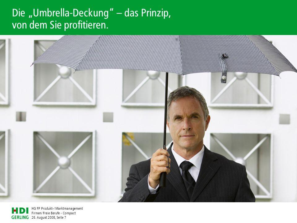 """Die """"Umbrella-Deckung – das Prinzip, von dem Sie profitieren."""