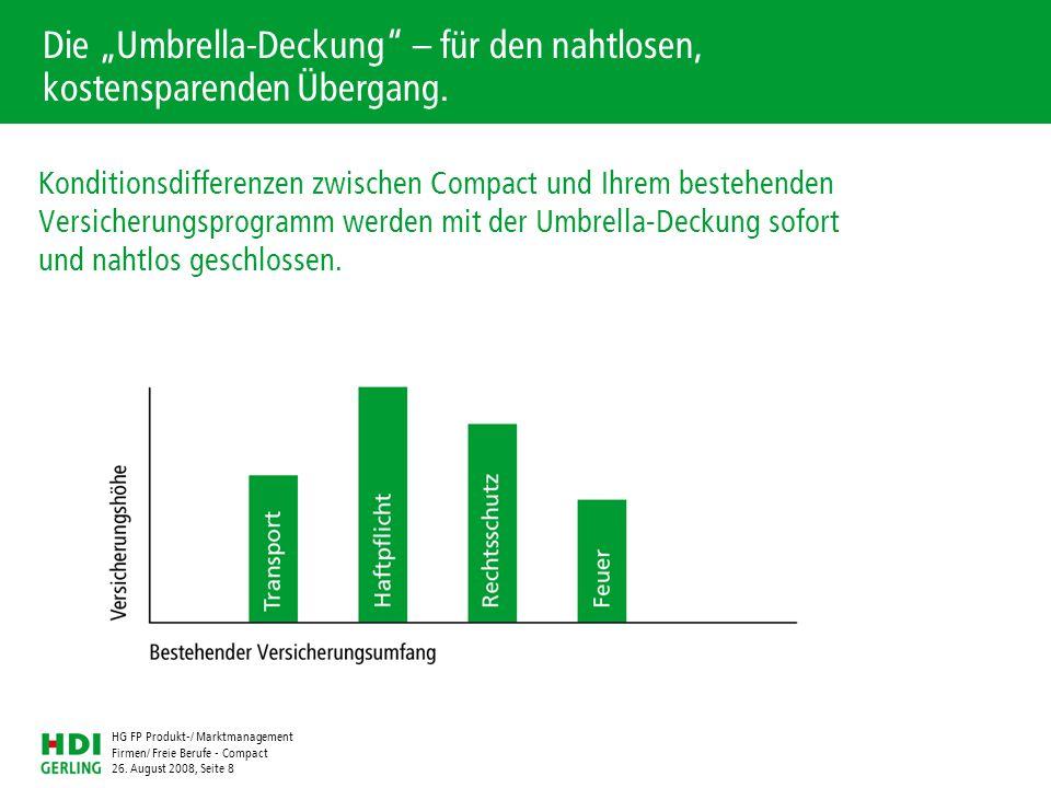 """Die """"Umbrella-Deckung – für den nahtlosen, kostensparenden Übergang."""