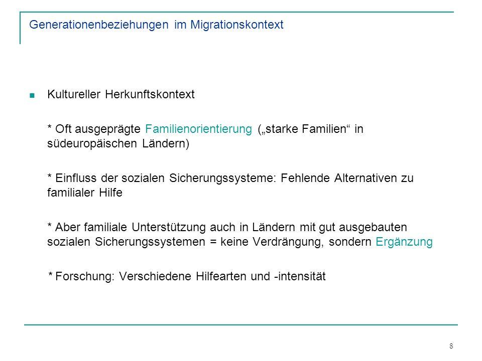 Generationenbeziehungen im Migrationskontext