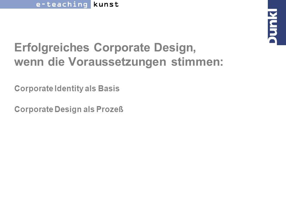 Erfolgreiches Corporate Design, wenn die Voraussetzungen stimmen: