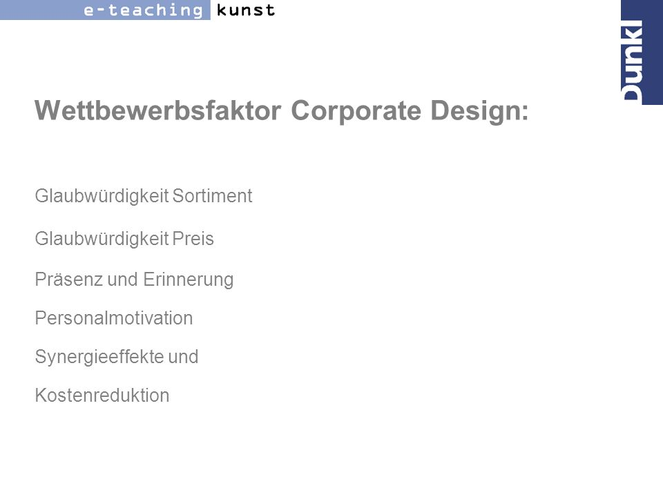 Wettbewerbsfaktor Corporate Design: