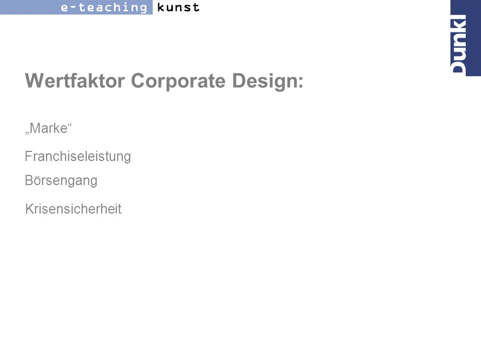 Wertfaktor Corporate Design:
