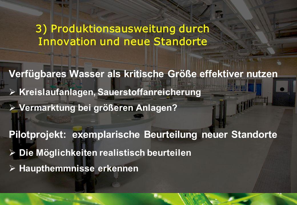 3) Produktionsausweitung durch Innovation und neue Standorte