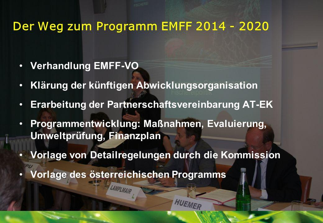 Der Weg zum Programm EMFF 2014 - 2020