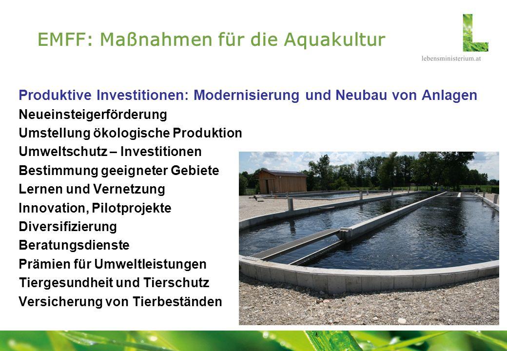 EMFF: Maßnahmen für die Aquakultur