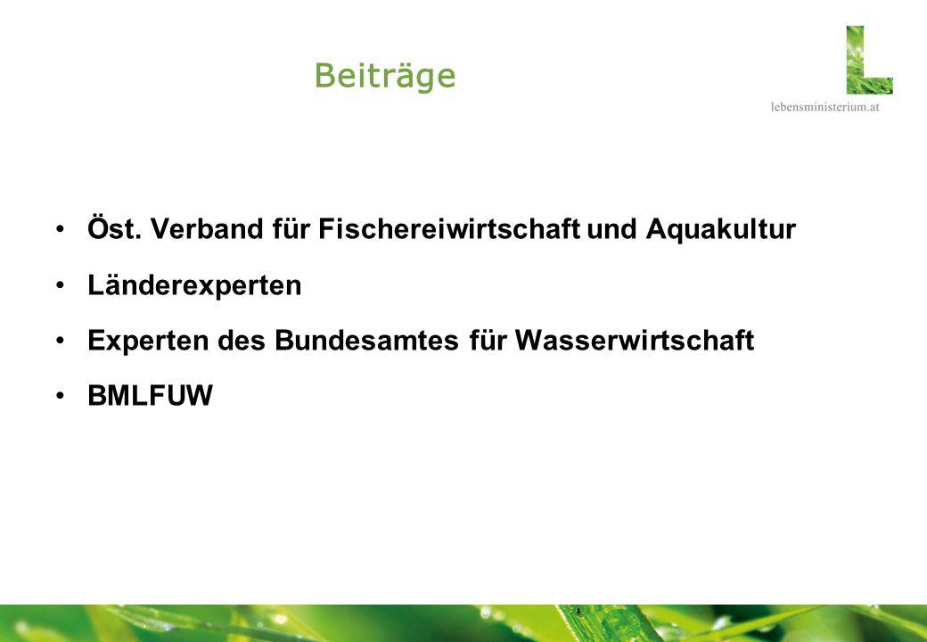 Beiträge Öst. Verband für Fischereiwirtschaft und Aquakultur