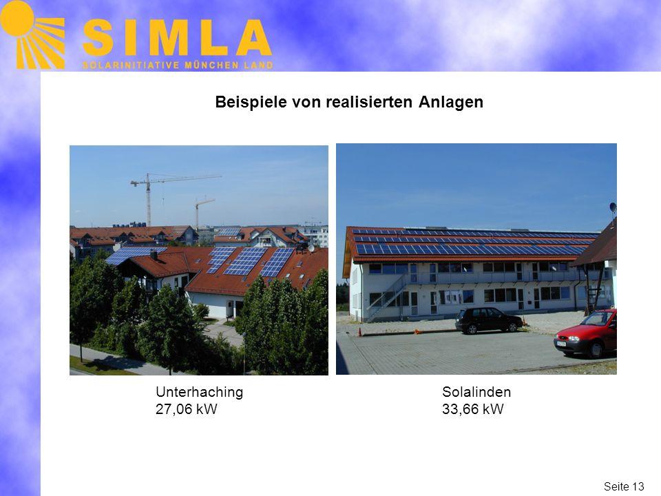 Beispiele von realisierten Anlagen