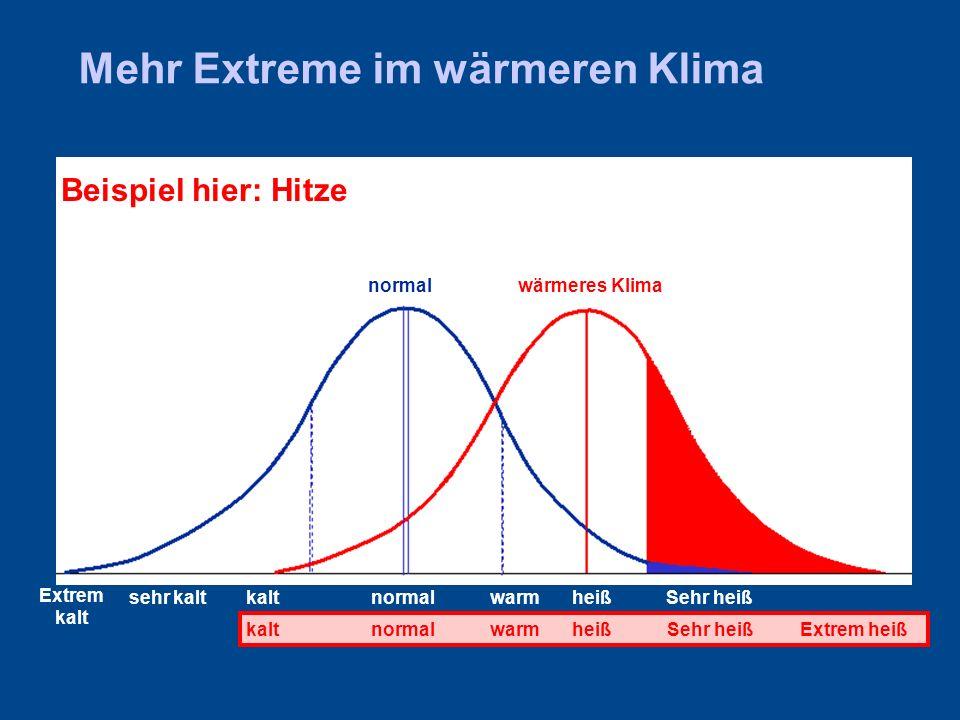 Mehr Extreme im wärmeren Klima