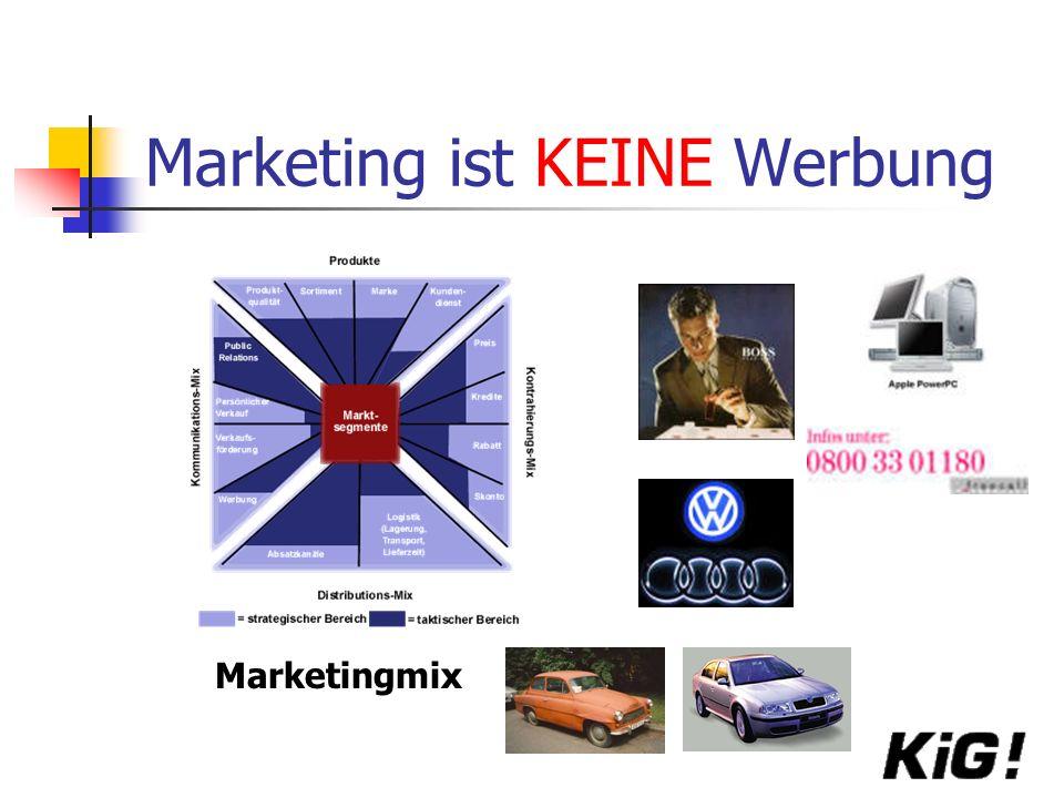 Marketing ist KEINE Werbung