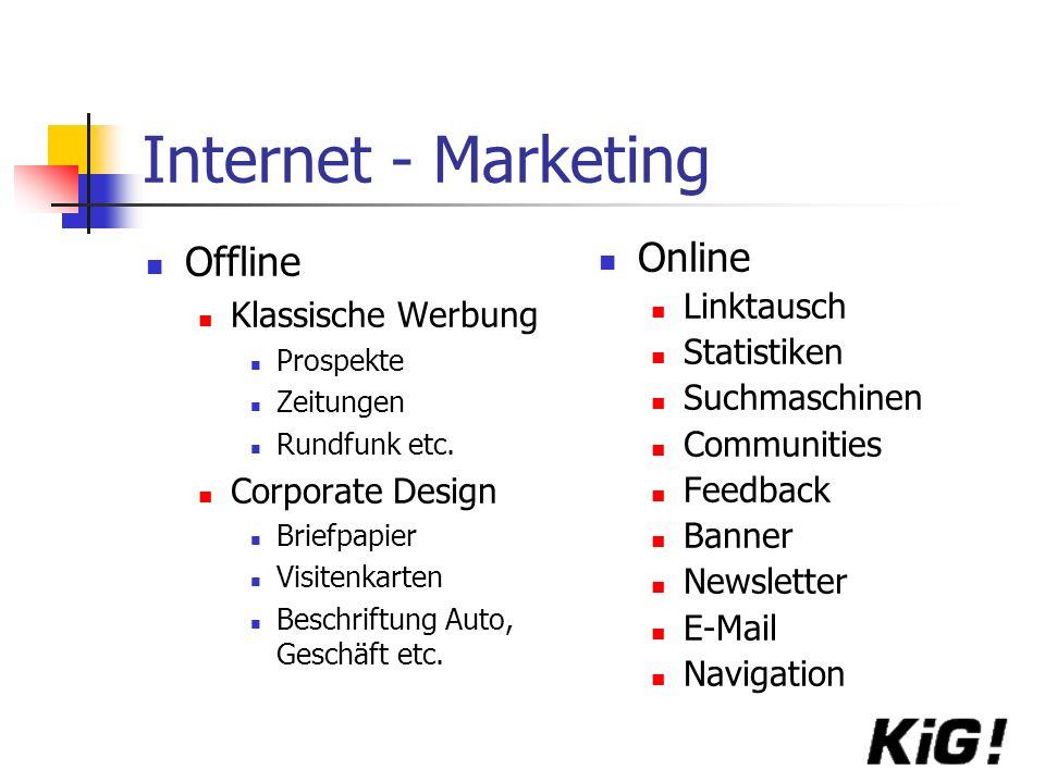 Internet - Marketing Offline Online Klassische Werbung Linktausch