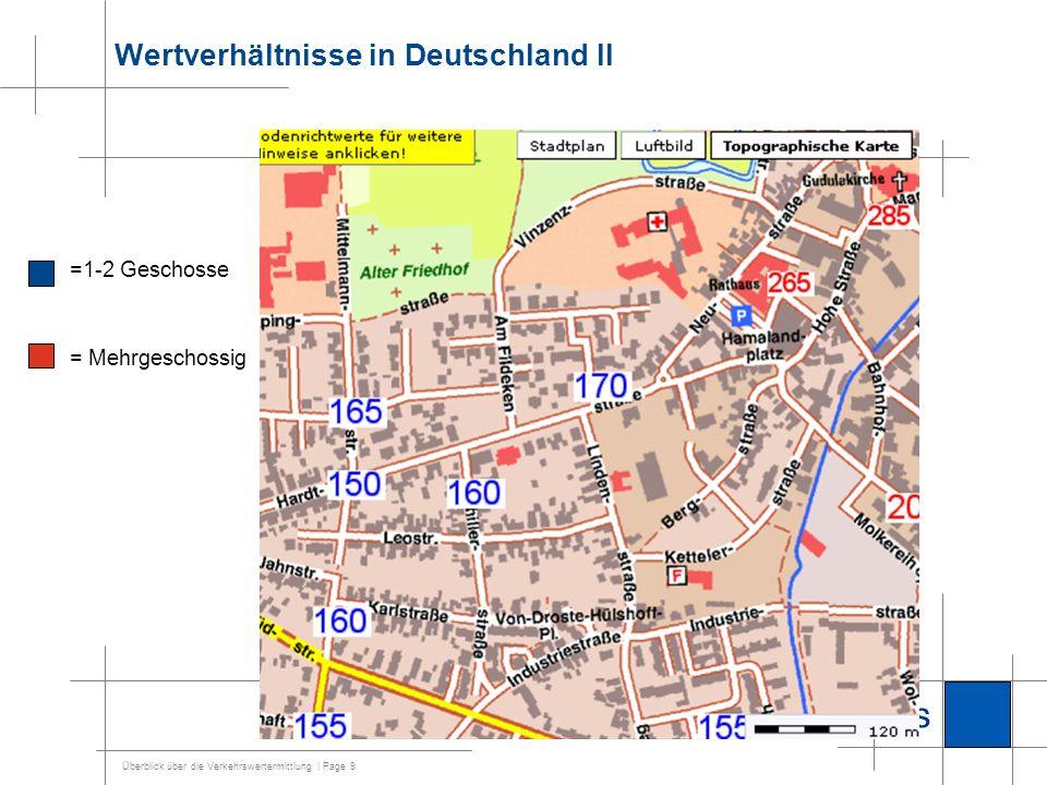 Wertverhältnisse in Deutschland II