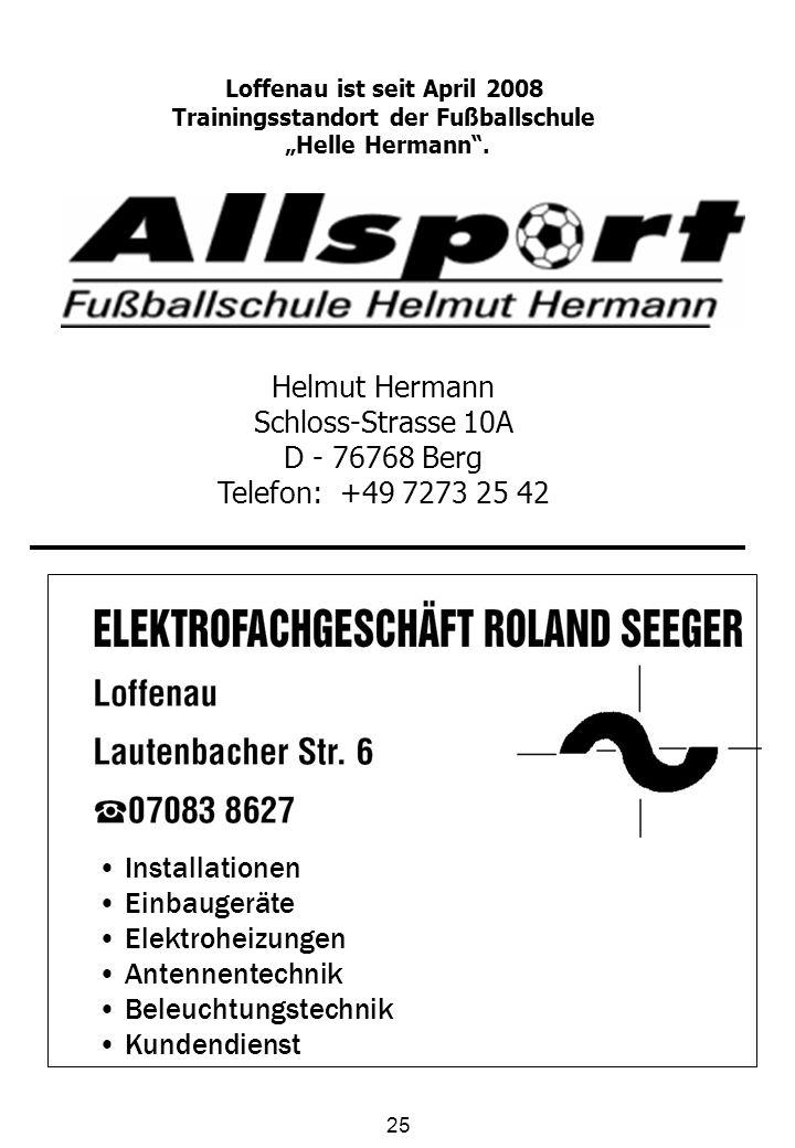 Loffenau ist seit April 2008 Trainingsstandort der Fußballschule