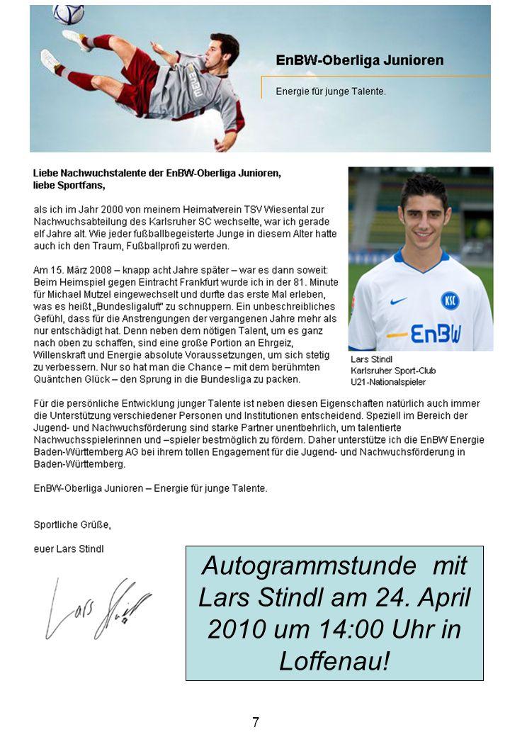 Autogrammstunde mit Lars Stindl am 24