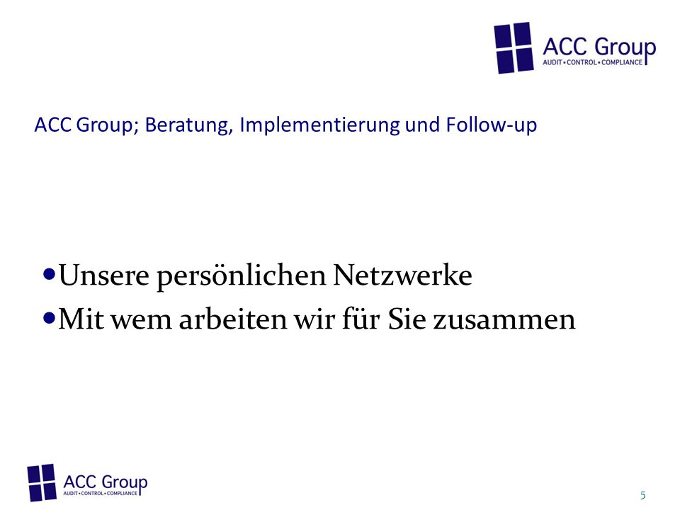Unsere persönlichen Netzwerke Mit wem arbeiten wir für Sie zusammen