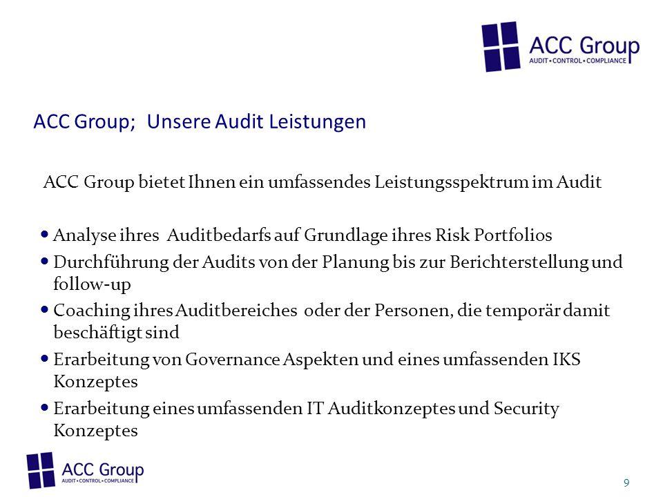 ACC Group; Unsere Audit Leistungen