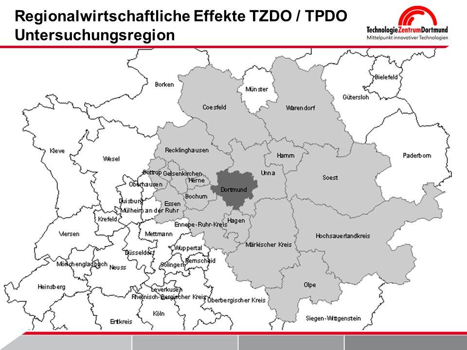Regionalwirtschaftliche Effekte TZDO / TPDO Untersuchungsregion