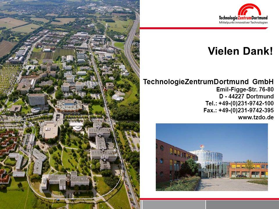 Vielen Dank! TechnologieZentrumDortmund GmbH