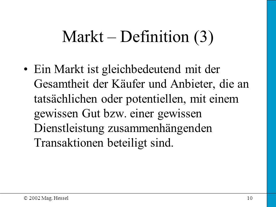 Markt – Definition (3)
