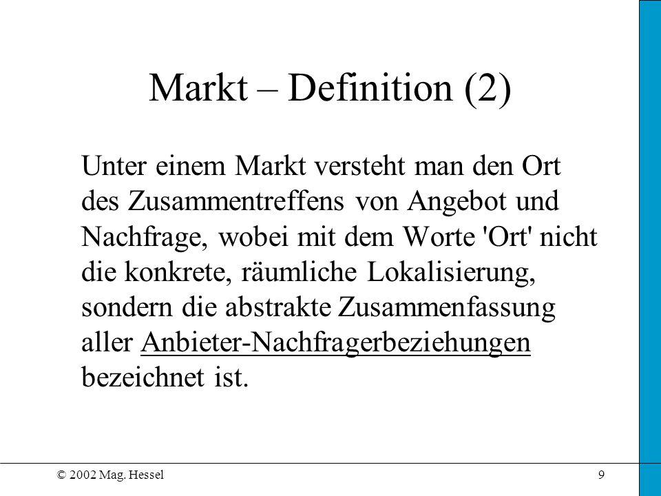 Markt – Definition (2)