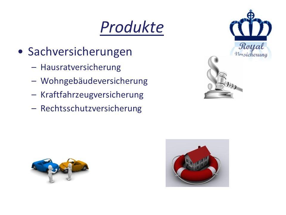 Produkte Sachversicherungen Hausratversicherung
