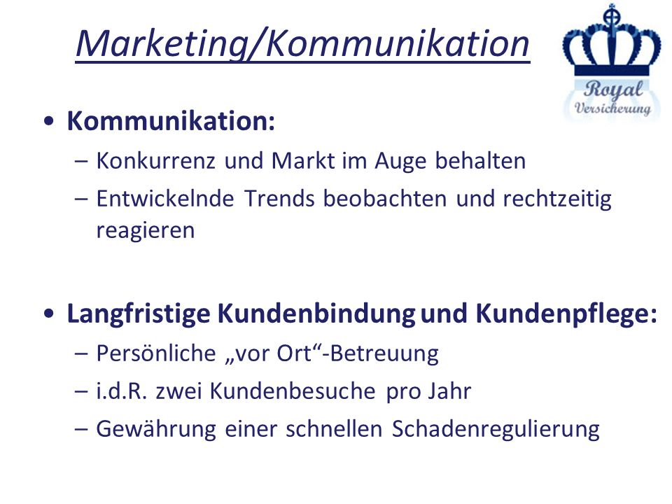 Marketing/Kommunikation