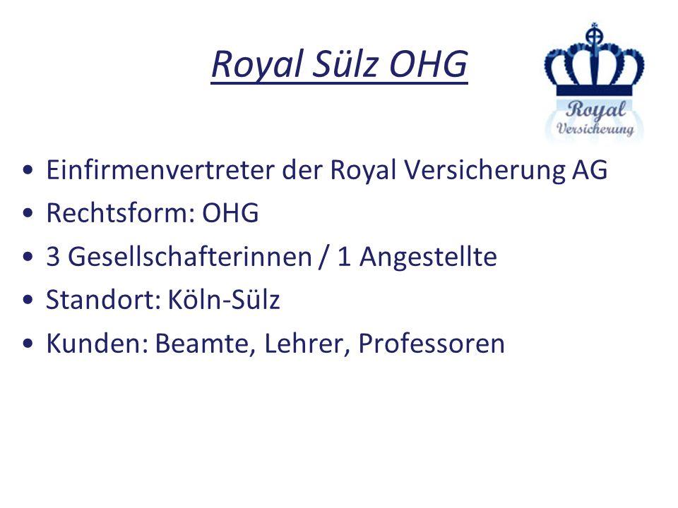 Royal Sülz OHG Einfirmenvertreter der Royal Versicherung AG