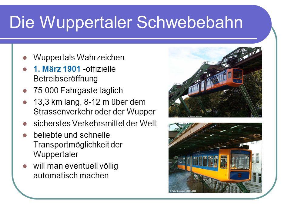 Die Wuppertaler Schwebebahn