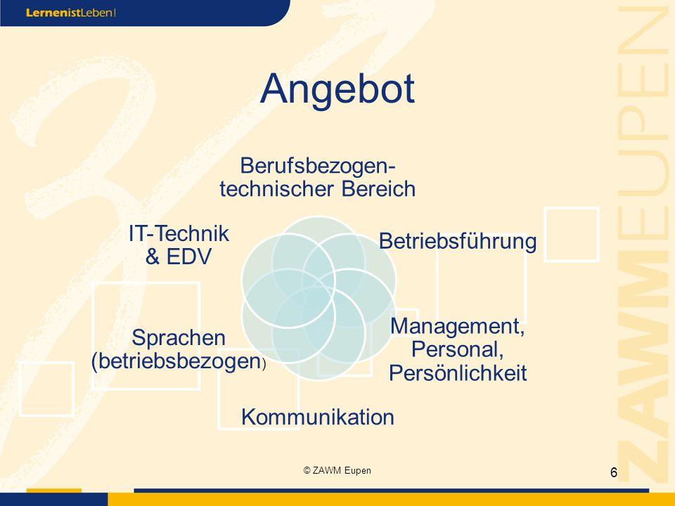 Angebot Berufsbezogen-technischer Bereich Betriebsführung