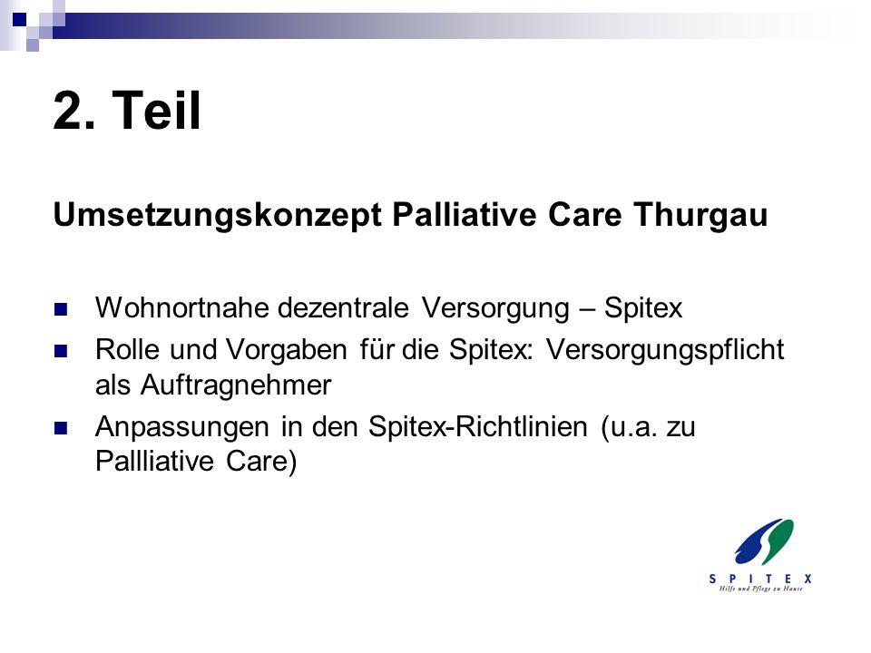 2. Teil Umsetzungskonzept Palliative Care Thurgau