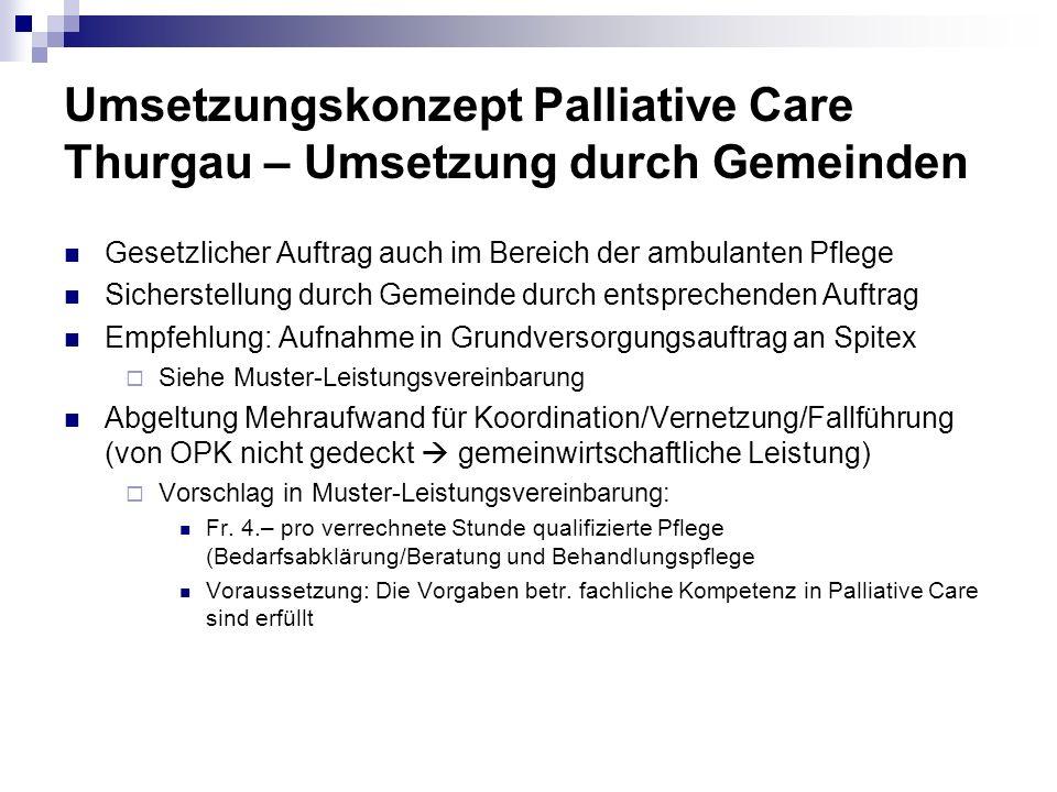 Umsetzungskonzept Palliative Care Thurgau – Umsetzung durch Gemeinden
