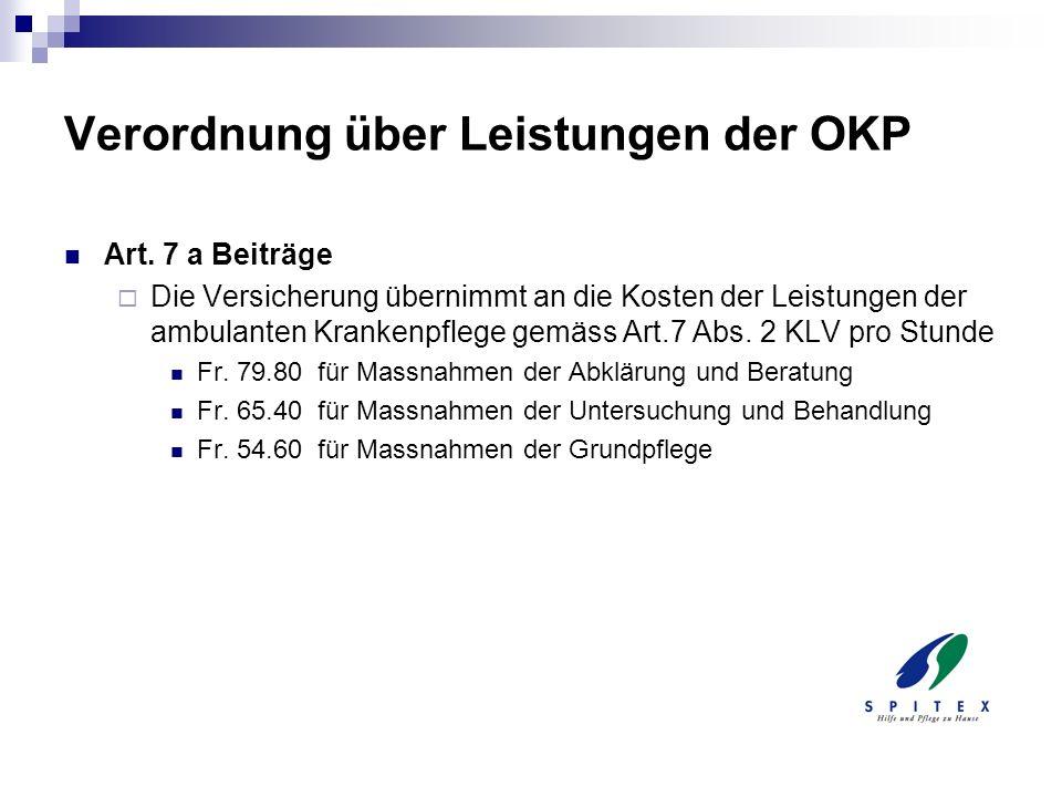 Verordnung über Leistungen der OKP
