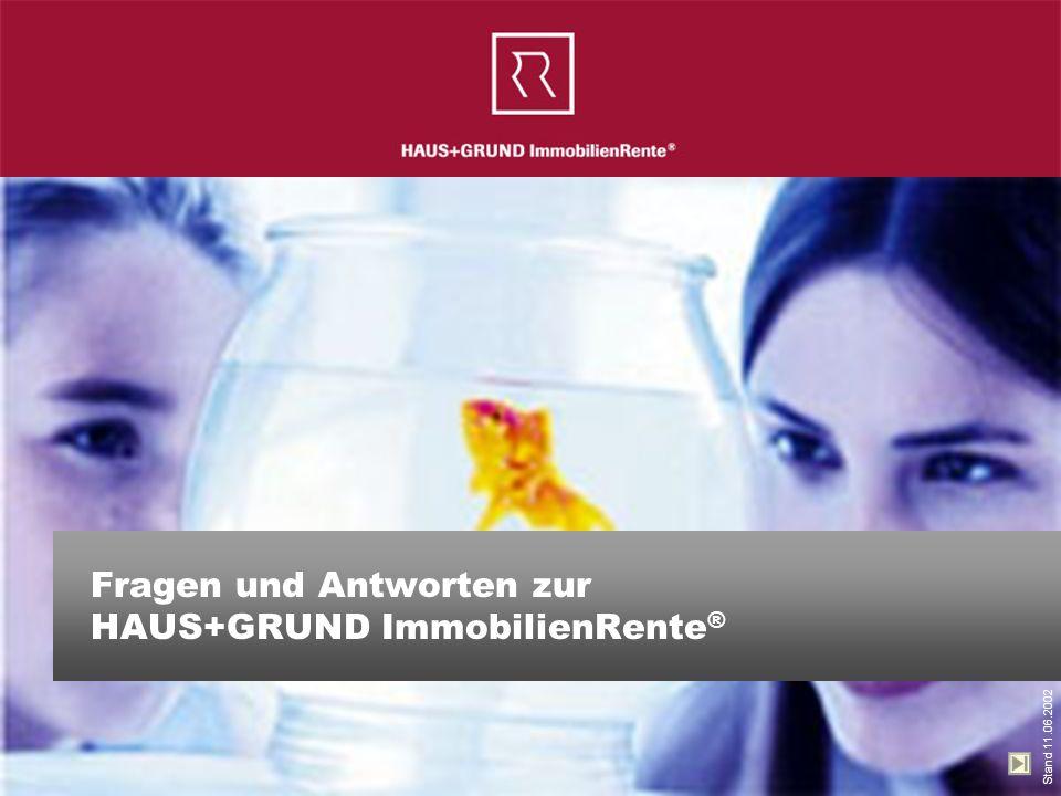 Fragen und Antworten zur HAUS+GRUND ImmobilienRente®