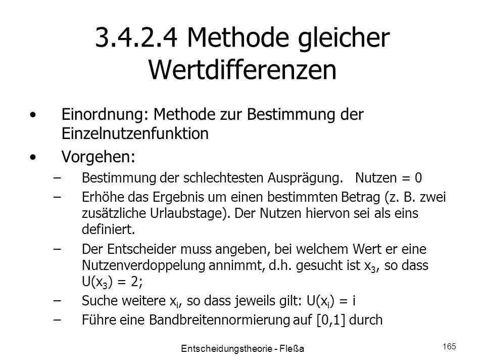 3.4.2.4 Methode gleicher Wertdifferenzen