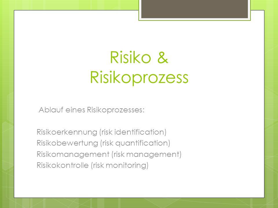 Risiko & Risikoprozess