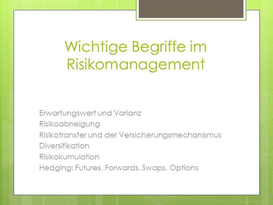Wichtige Begriffe im Risikomanagement