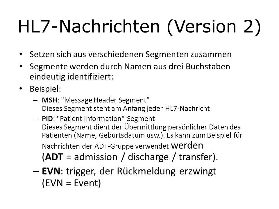 HL7-Nachrichten (Version 2)
