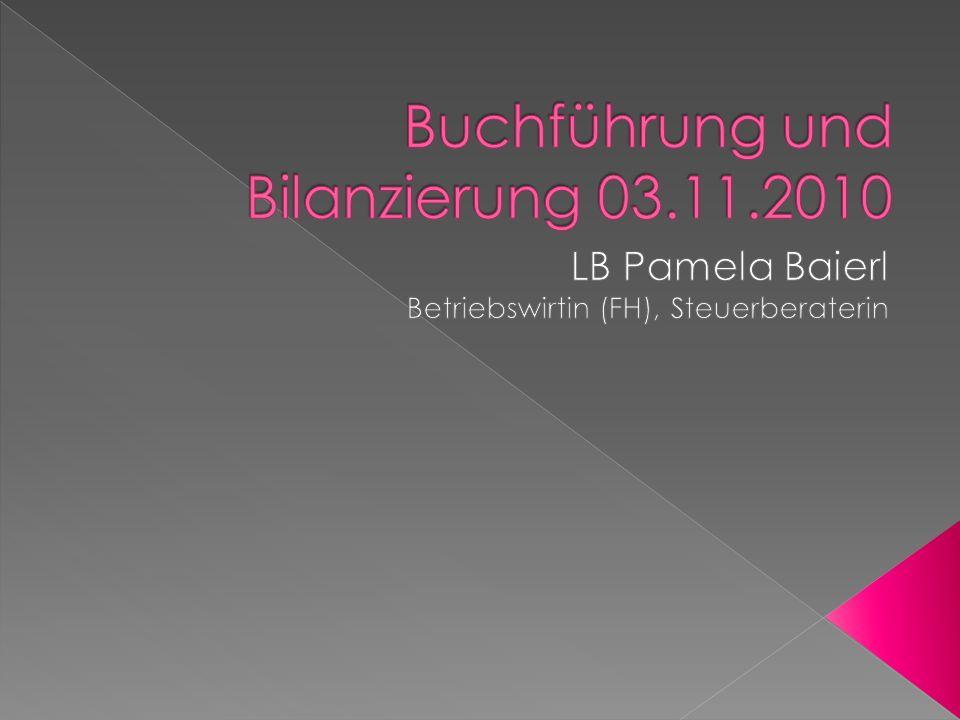 Buchführung und Bilanzierung 03.11.2010